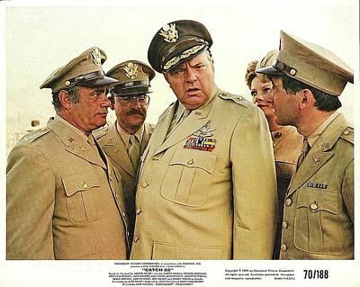 Orson Welles As Brigadier General Dreedle Lobby Card Catch 22 1970 Print by David Lee Guss