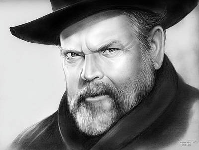 Drawing - Orson Welles by Greg Joens