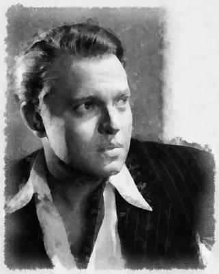 Priska Wettstein Pink Hues Royalty Free Images - Orson Welles Royalty-Free Image by Esoterica Art Agency