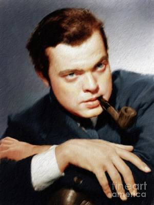 Musician Royalty-Free and Rights-Managed Images - Orson Welles by Mary Bassett