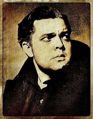 John Wayne Digital Art - Orson Welles Vintage Hollywood Actor by Esoterica Art Agency