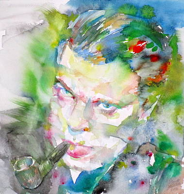Painting - Orson Welles - Watercolor Portrait.4 by Fabrizio Cassetta