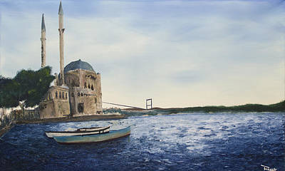 Painting - Ortakoy Mosque by Rafay Zafer
