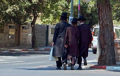 Orthodox Jews In Jerusalem Art Print by Susan Heller