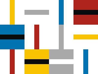 Orthogonal Bauhaus Art Print by Daniel Perfeito