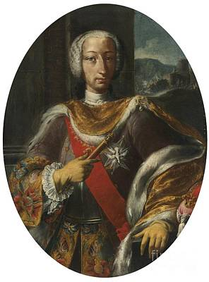 18th Century Painting - Ortrait Of King Charles Vii Of Naples by Celestial Images