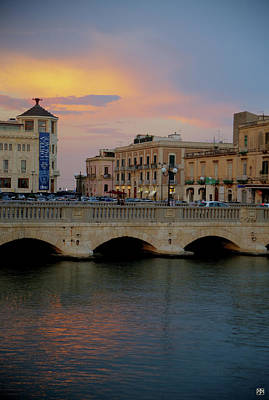 Photograph - Ortygia Bridge by John Meader