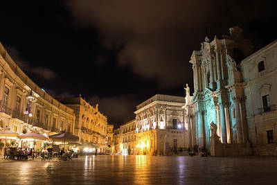 Photograph - Aristocratic Square - Piazza Duomo In Ortygia Syracuse Sicily by Georgia Mizuleva