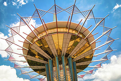 Photograph - Oru Prayer Tower Crown Of Thorns - Tulsa Ok by Gregory Ballos