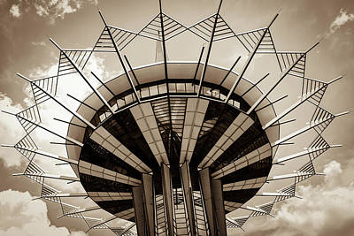 Photograph - Oru Prayer Tower - Sepia Edition by Gregory Ballos