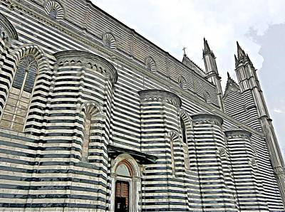 Digital Art - Orvieto Cathedral In Italy by Mindy Newman