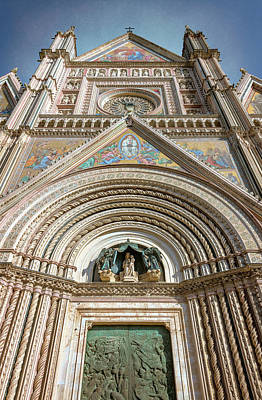 Photograph - Orvieto Italy Cathedral Central Facade by Joan Carroll