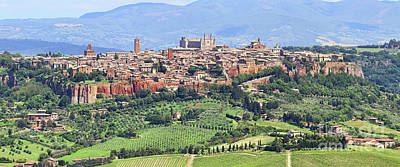 Photograph - Orvieto Panorama 0761 0762 by Jack Schultz