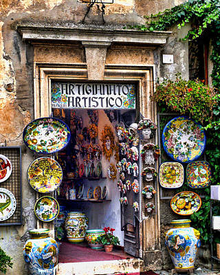 Italian Pottery Photograph - Orvieto Shop by John Bushnell