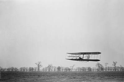 Orville Wright 1871-1948 In Flight Art Print