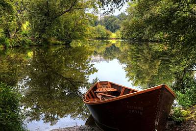 Photograph - Orvis Rowboat And Biltmore Reflection II by Carol Montoya