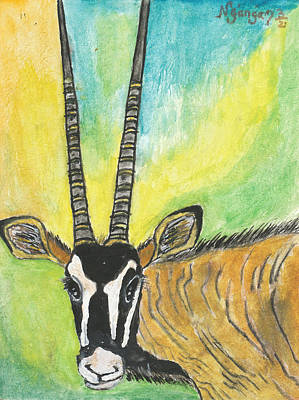 Kenyan Painting - Orx by Ken Nganga