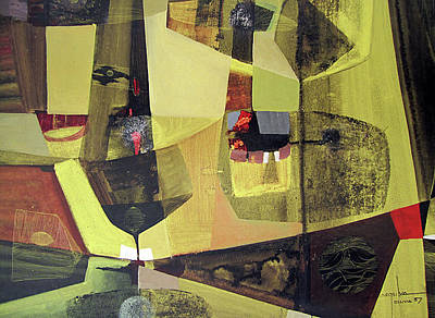 Cosmic Space Painting - Os1957bo010 Abstract Landscape Of Potosi Bolivia 22.6 X 30 by Alfredo Da Silva