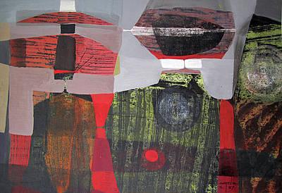 Os1957bo013 Abstract Landscape Of Potosi Bolivia 19.6 X 28.9 Art Print by Alfredo Da Silva