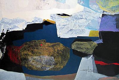 Cosmic Painting - Os1958ar009ba Abstract Landscape Of Potosi Bolivia 22.6 X 33.9 by Alfredo Da Silva