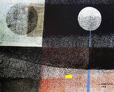 Cosmic Space Painting - Os1958bo001 Abstract Landscape Potosi 21.75x16.5 by Alfredo Da Silva