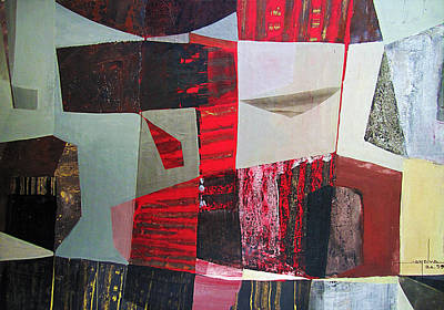 Cosmic Space Painting - Os1959ar009ba Abstract Landscape Of Potosi Bolivia 22 X 31.9 by Alfredo Da Silva