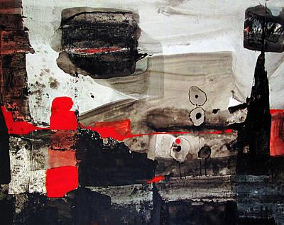 Cosmic Space Painting - Os1959ar010ba Abstract Landscape Of Potosi Bolivia 21 X 26.9 by Alfredo Da Silva