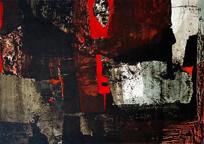 Cosmic Space Painting - Os1959ar011ba Abstract Landscape Of Potosi Bolivia 17.6 X 26.3 by Alfredo Da Silva