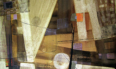 Cosmic Space Painting - Os1959ar013ba Abstract Landscape Of Potosi Bolivia 15.6 X 26.6 by Alfredo Da Silva