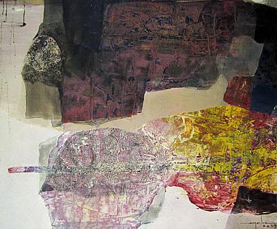 Cosmic Space Painting - Os1959ar014ba Abstract Landscape Of Potosi Bolivia 22.6 X 27.6 by Alfredo Da Silva