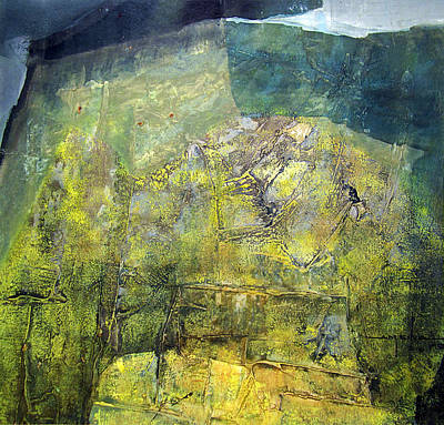 Latin American Painting - Os1959ar015ba Abstract Landscape Of Potosi Bolivia 20.9 X 21.9 by Alfredo Da Silva