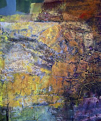 Cosmic Space Painting - Os1959ar017ba Abstract Landscape Of Potosi Bolivia 18 X 21 by Alfredo Da Silva