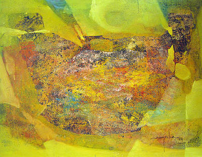 Os1959bo002 Abstract Landscape Potosi 22.5x17 Art Print by Alfredo Da Silva