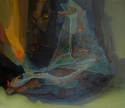 Cosmic Space Painting - Os1962ny001 Luz Vital No.8 26.6 X 31 by Alfredo Da Silva