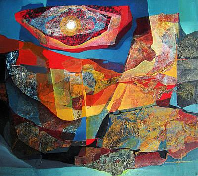 Cosmic Space Painting - Os1964ny001 Sinfomia En Azul 22.6 X 25 by Alfredo Da Silva