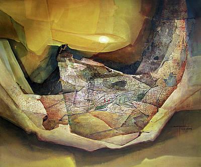Cosmic Painting - Os1964ny002 Sensacion Espacial No.9 26.6 X 31.15 by Alfredo Da Silva