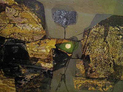Cosmic Space Painting - Os1970ny002 Formas En El Espacio  10.3 X  13.9 by Alfredo Da Silva