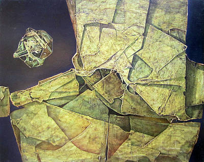 Cosmos Painting - Os1974ny004 Celestial Planet 20x16 by Alfredo Da Silva