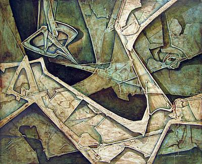 Cosmos Painting - Os1974ny006 Quietud Inquieta 20x16 by Alfredo Da Silva