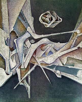 Cosmos Painting - Os1974ny007 Silver Age 16x20 by Alfredo Da Silva