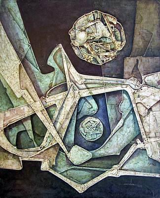 Cosmos Painting - Os1974ny008 The Future Of The World 16x20 by Alfredo Da Silva
