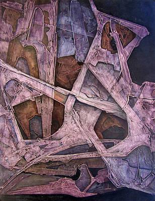 Cosmic Painting - Os1974ny014 Dynamic Lines 20x26 by Alfredo Da Silva