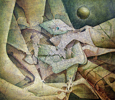 Cosmic Space Painting - Os1981dc001 Momentos Felices No.1 26.3 X 31 by Alfredo Da Silva