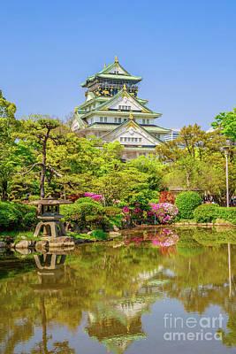 Photograph - Osaka Castle Reflecting by Benny Marty