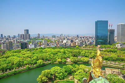 Photograph - Osaka Castle Skyline by Benny Marty