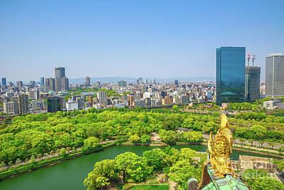 Photograph - Osaka Castle Skyline by Benny Marty