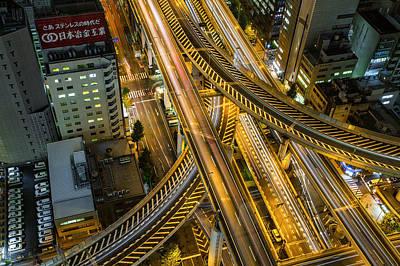 City Digital Art - Osaka by Maye Loeser