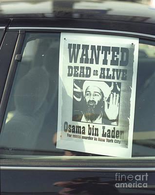 Osama Bin Laden Photograph - Osama Wanted by Jim And Emily Bush