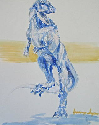 T Rex Drawing - Osaur by Jennings Ingram