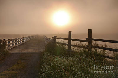 Photograph - Osborne Bridge In Fog by Idaho Scenic Images Linda Lantzy